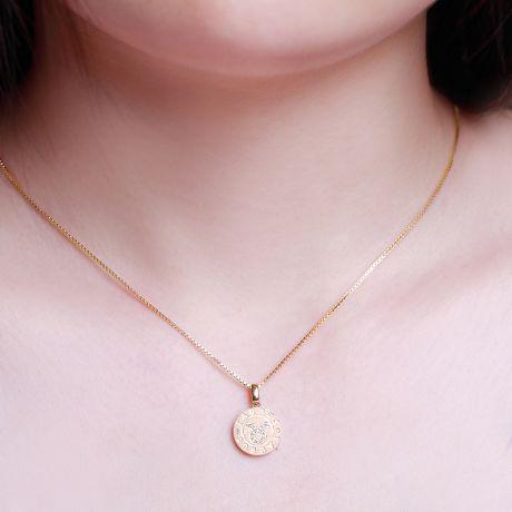 Ciondolo Taurus (Toro) - Oro giallo e diamanti