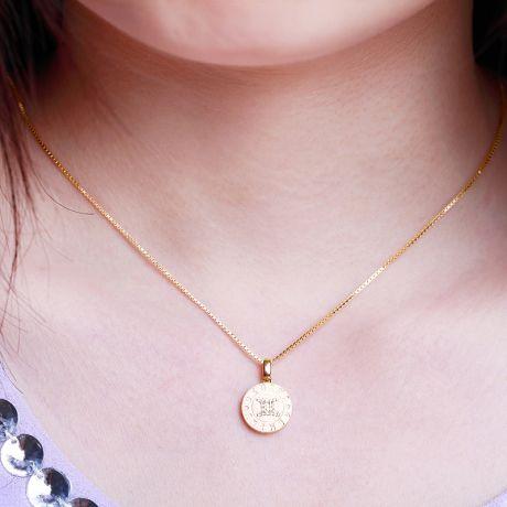 Ciondolo Gemini (Gemelli) - Oro giallo e diamanti