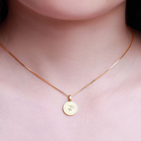 Ciondolo Sagittarius (Sagittario) - Oro giallo e diamanti