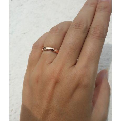 Fede Donna - Oro rosa 2.80gr - Diamante 0.008ct