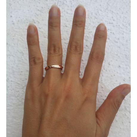 Fede Donna - Oro rosa 2.7gr - Diamante 0.005ct