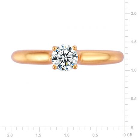 Anello solitario natura - Oro rosa 2.50gr - Diamanti 0.350ct