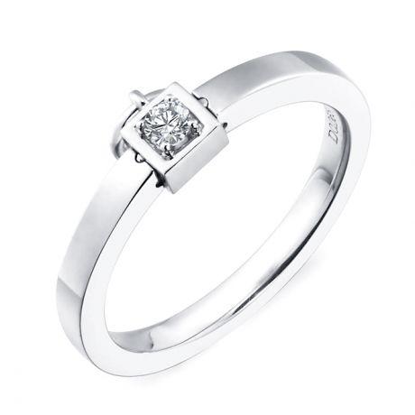 Solitario ciondolo - Oro bianco - Diamanti 0.050ct