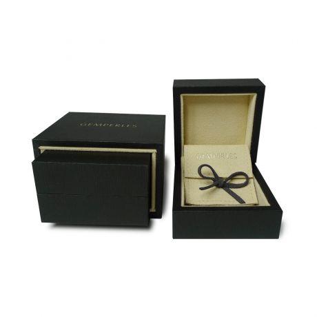 Anello Uomo - Oro bianco 9.50gr - Diamante 0.060ct
