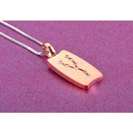 Ciondolo astrologico - Costellazione del toro - Oro rosa, diamanti