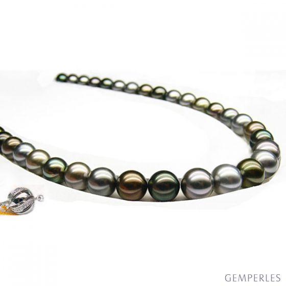 Collana perle di Tahiti multicolore - 9/10mm - AAA