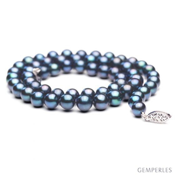 Collana perle acqua dolce nere - 7/7.5mm, AAA