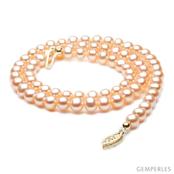 Collana perle acqua dolce rosa - 5/5.5mm, AA+