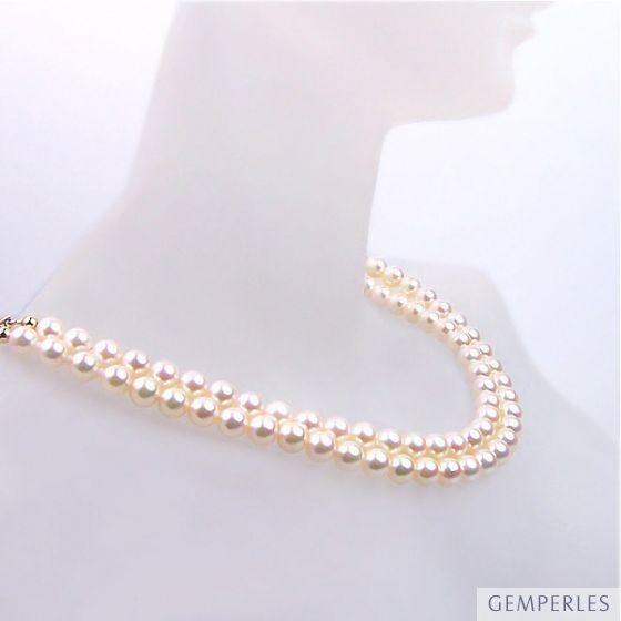 Collana due fili - Gioiello in perle Akoya - Perle dal Giappone