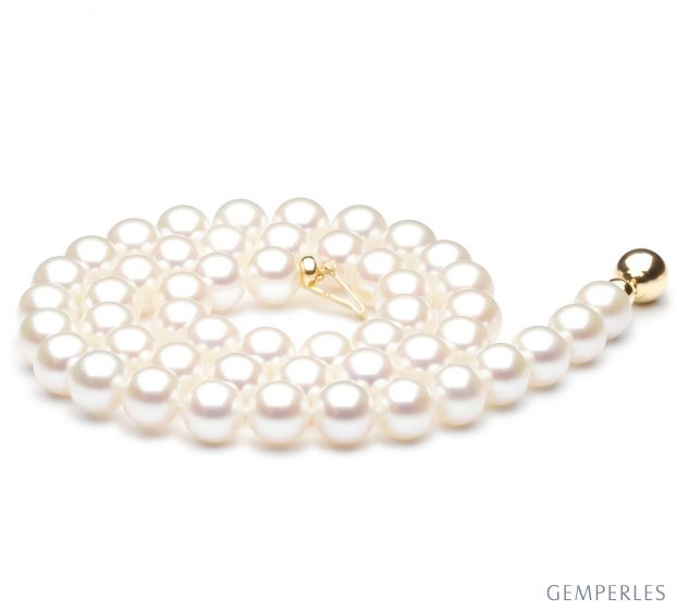 Collana perle acqua dolce bianche - 7.5/8mm, AAA