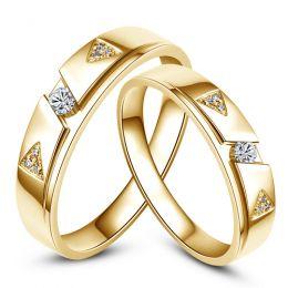 Fedi matrimonio, Fedine -  Oro giallo 6.96gr, Diamanti 0.127ct