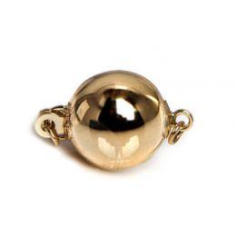 Chiusura Bolla. Palla liscia 8mm - Oro giallo 14 carati
