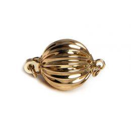 Chiusura Boccino. Palla striata 7mm - Oro giallo 14 carati