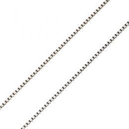 Catenina Maglia Veneziana oro bianco 18ct | 40cm