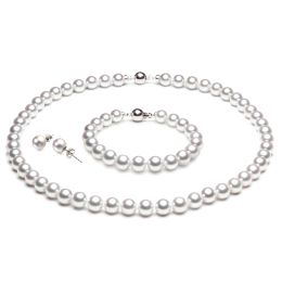 Parure perle oro bianco del Giappone - Perle mare Akoya