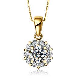 Ciondolo in oro giallo e diamanti. Cuore di Pietra