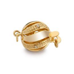 Chiusura Melograno. Palla 11mm - Diamanti - Oro giallo 18 carati.