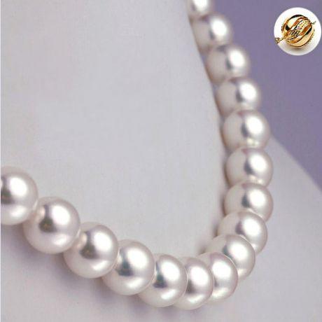 Collana di perle Akoya giapponesi bianche - 8.5/9mm, AAA