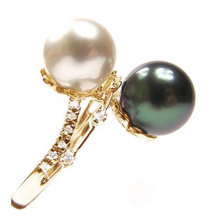 Anello oro giallo - Perle dei Mari del Sud - 9.5/10mm