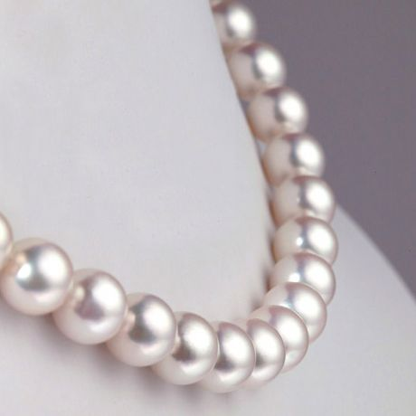 Collana di perle Akoya bianche - 8.5/9mm - AA+