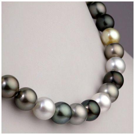 Collana perle dei Mari del Sud multicolore - 10/13mm - AAA