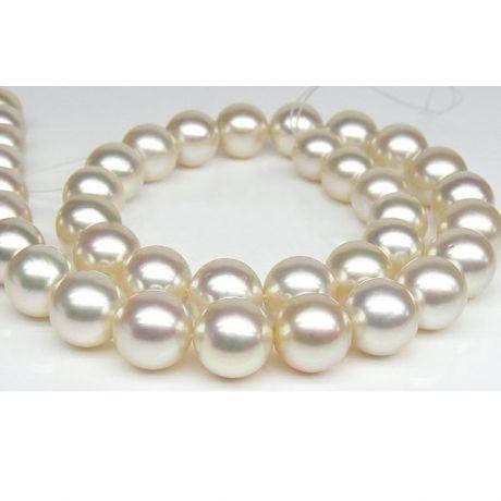Collana perle d'Australia bianche, champagne - 10/12mm, AAB