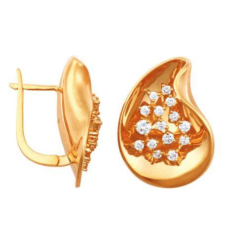 Orecchini - Oro giallo 8.25gr - Diamanti 0.770ct