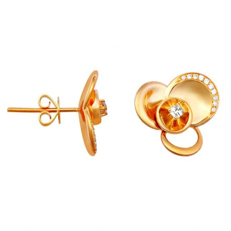Orecchini - Oro giallo 4.95gr - Diamanti 0.140ct