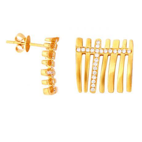 Orecchini - Oro giallo 4.80gr - Diamanti 0.230ct