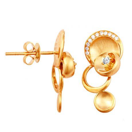 Orecchini - Oro giallo 3.75gr - Diamanti 0.150ct