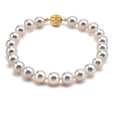 Braccialetto perle - Akoya bianche giapponesi - 6.5/7mm