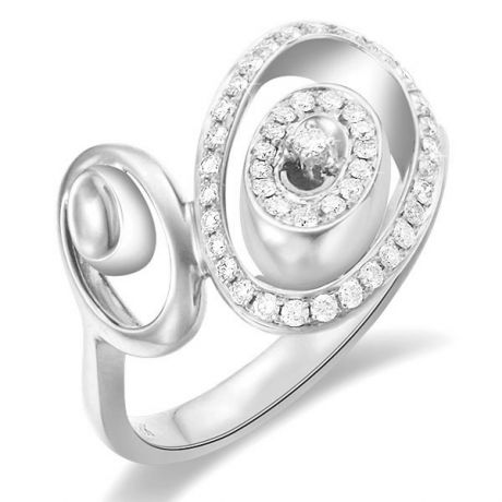 Anello Donna - Oro bianco 3.90gr - Diamanti 0.280ct
