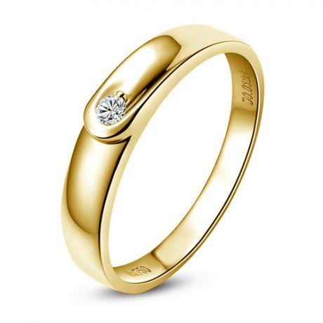 Fede Donna - Oro giallo 2.02gr - Diamante 0.032ct