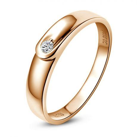 Fede Donna - Oro rosa 2.02gr - Diamante 0.032ct