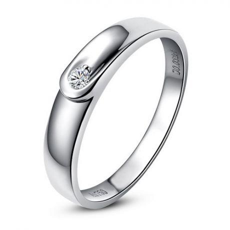 Fede Donna - Oro bianco 2.02gr - Diamante 0.032ct