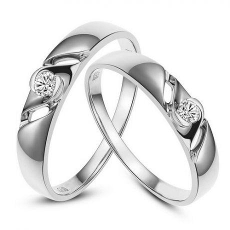 Fedi matrimonio, Fedine -  Oro bianco 4.42gr, Diamanti 0.113ct
