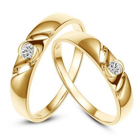 Fedi matrimonio, Fedine -  Oro giallo 4.42gr, Diamanti 0.113ct