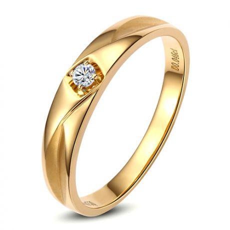 Fede Donna - Oro giallo 2.24gr - Diamante 0.037ct