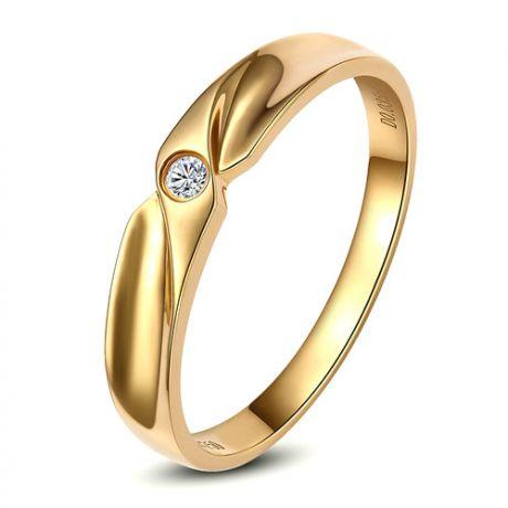 Fede Donna - Oro giallo 2.3gr - Diamante 0.013ct