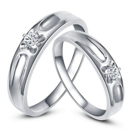 Fedi matrimonio, Fedine -  Oro bianco 4.93gr, Diamanti 0.147ct