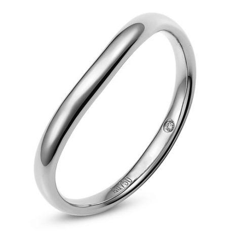Fede Uomo - Oro bianco 2.50gr - Diamante 0.011ct