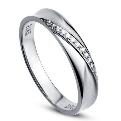 Fede Donna - Oro bianco e Diamanti 0.029ct