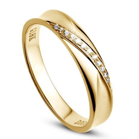 Fede Donna - Oro giallo 2.10gr - Diamanti 0.029ct
