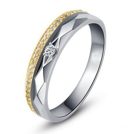 Fede Donna - 2 Ori 2.32gr - Diamanti 0.101ct