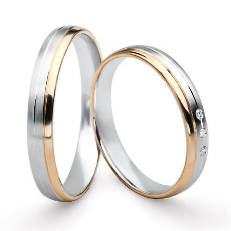 Fedi matrimonio, Fedine -  Oro bianco 4.18gr, Diamanti 0.010ct