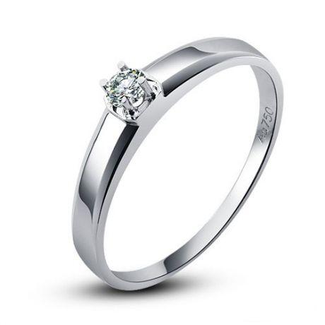 Fede Uomo - Oro bianco 2.80gr - Diamante 0.050ct