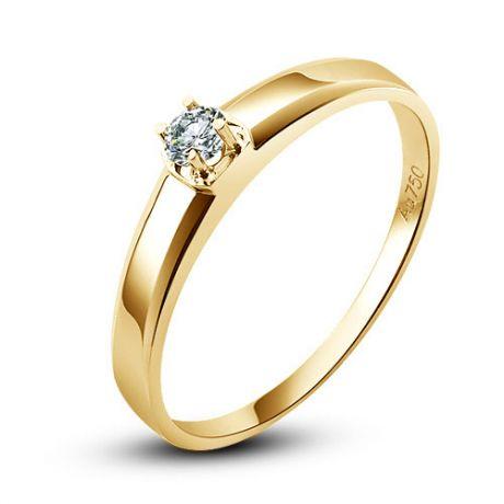 Fede Uomo - Oro giallo - Diamante 0.030ct