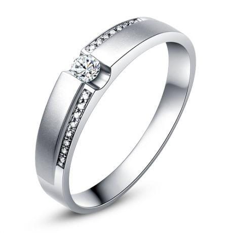 Fede Donna - Oro bianco 3.5gr - Diamanti 0.112ct