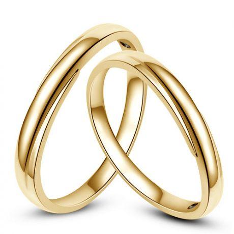 Fedi matrimonio, Fedine -  Oro giallo 5.30gr, Diamanti 0.015ct