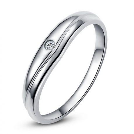 Fede Donna - Oro bianco 2.43gr - Diamante 0.019ct